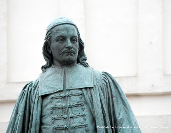 Paul-Gehrhardt-Denkmal in Lübben, Foto: Volker Tanner