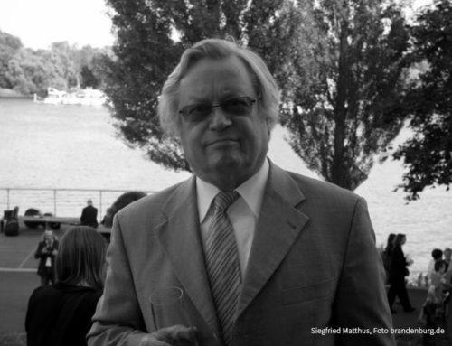 Pionier der modernen Klassik und Erfinder eines einzigartigen Opernevents – Woidke und Schüle betroffen über Tod von Prof. Matthus